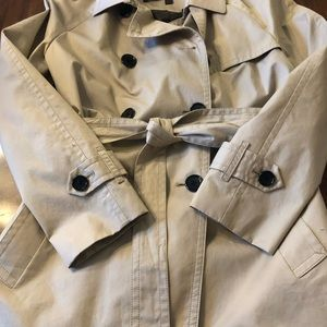 Coach Trench Coat Size Large Beige